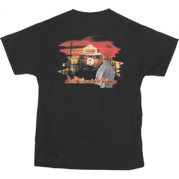 Smokey Flames T-shirt, Adult