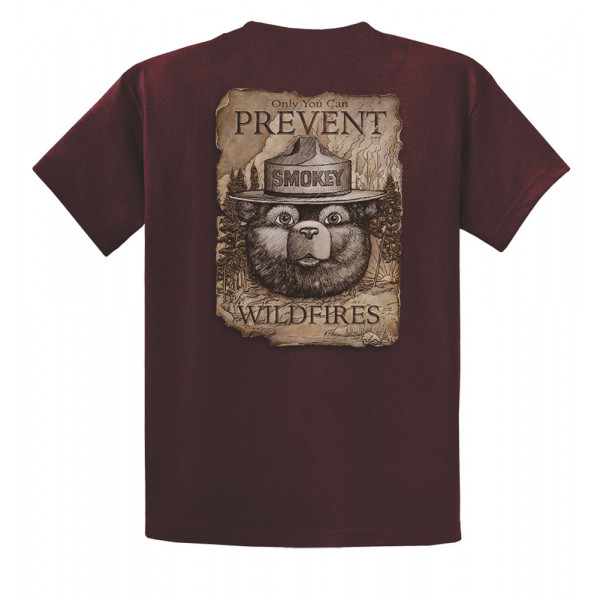 Smokey Scroll T-shirt, Adult
