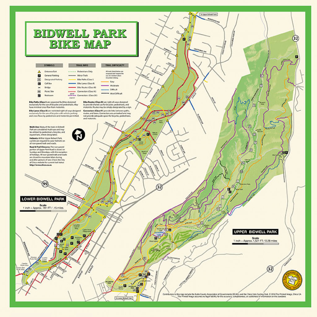 Bidwell Park Bike Map Bandana