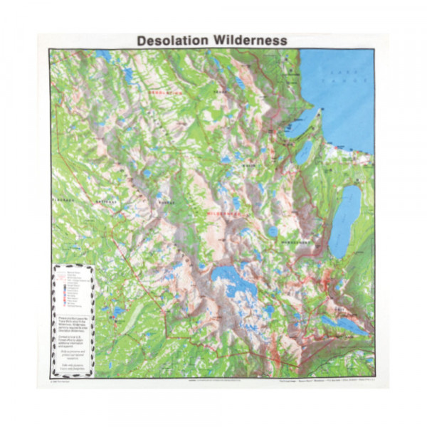 Desolation Wilderness Bandana, Topo