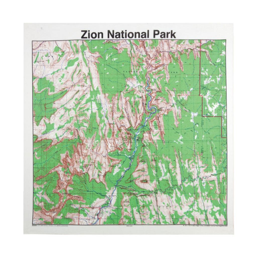 Zion National Park Bandana, Topo on