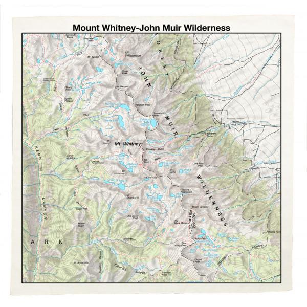 Mt. Whitney-John Muir Bandana, Topo