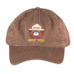 Smokey Embroidered Organic Cap, Adult