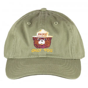 Smokey Embroidered Organic Cap, Adult