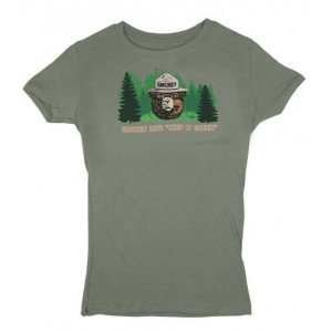 Smokey Keep it Green T-shirt, Ladies Fitted