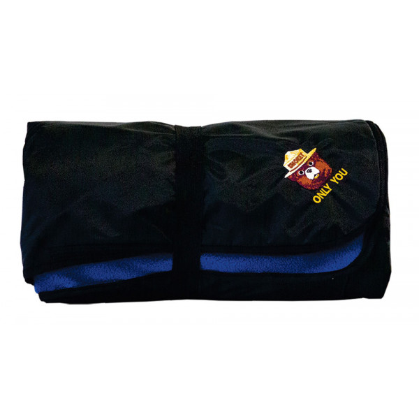 Smokey Embroidered Camping Blanket Fleece/Poly