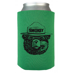 Smokey Keep Forests Green Koozie