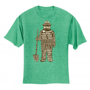 Smokey Saying T-shirt, Adult