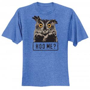Hoo Me? T-shirt, Adult