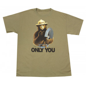 Smokey with Shovel T-shirt, Adult