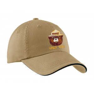 Smokey Embroidered Twill Hat, Adult