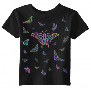 Glow Butterfly T-shirt, Youth