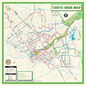 Chico Bike Map Bandana