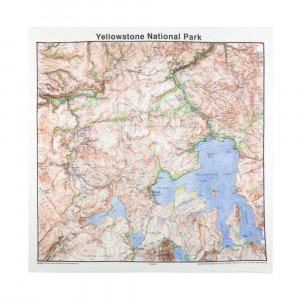 Yellowstone National Park Bandana, Topo