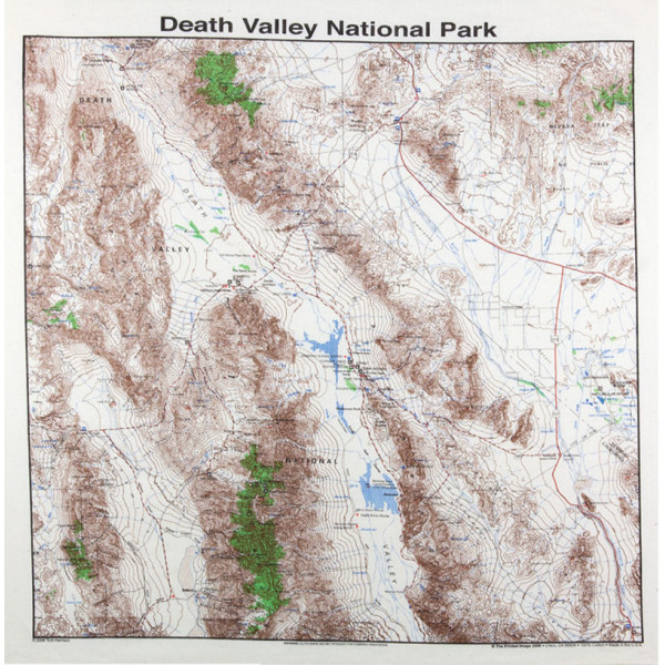 Death Valley Bandana, Topo