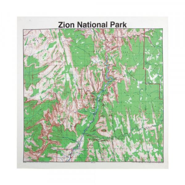 Zion National Park Bandana, Topo