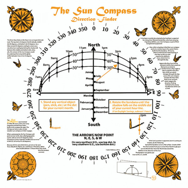 Sun Compass Bandana
