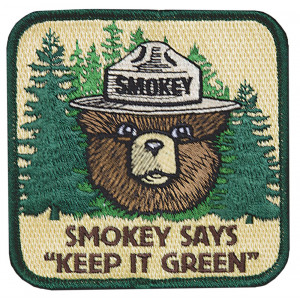 "Smokey Says ""Keep it Green"" Patch"