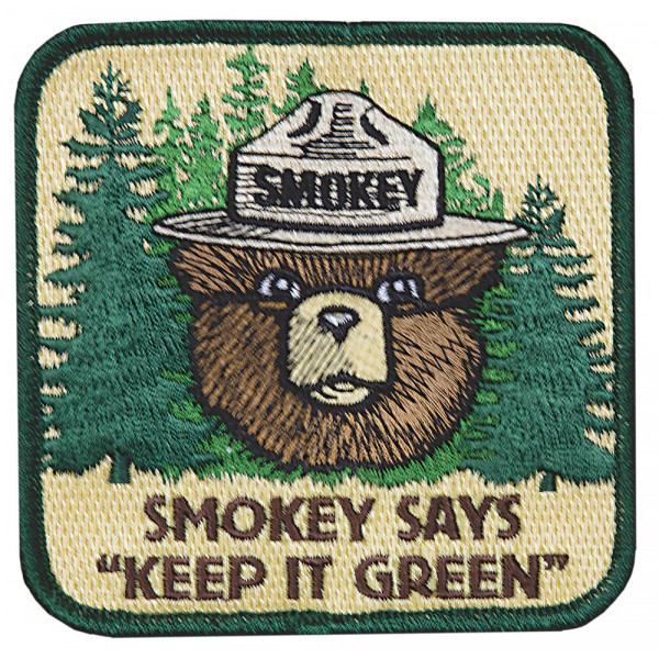 "Smokey Says ""Keep it Green"" Patch"