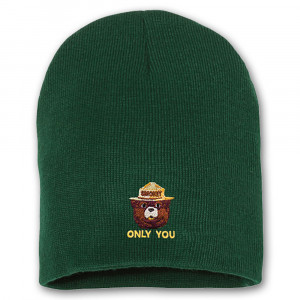 Smokey Embroidered Knit Hat, Adult