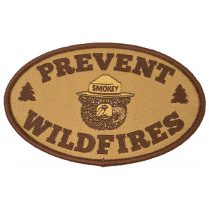 Smokey Prevent Wildfires Woven Patch