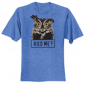 Hoo Me? T-shirt, Adult