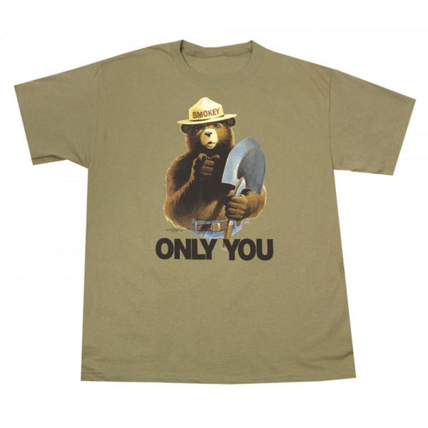 Smokey with Shovel T-shirt, Adult