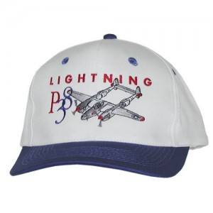 P-38 Lightning Embroidered Hat, Adult